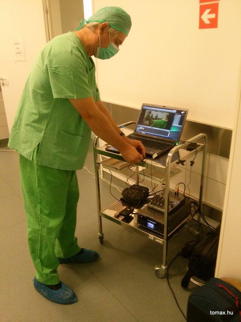 Flór Ferenc Kórház - műtét közvetítés